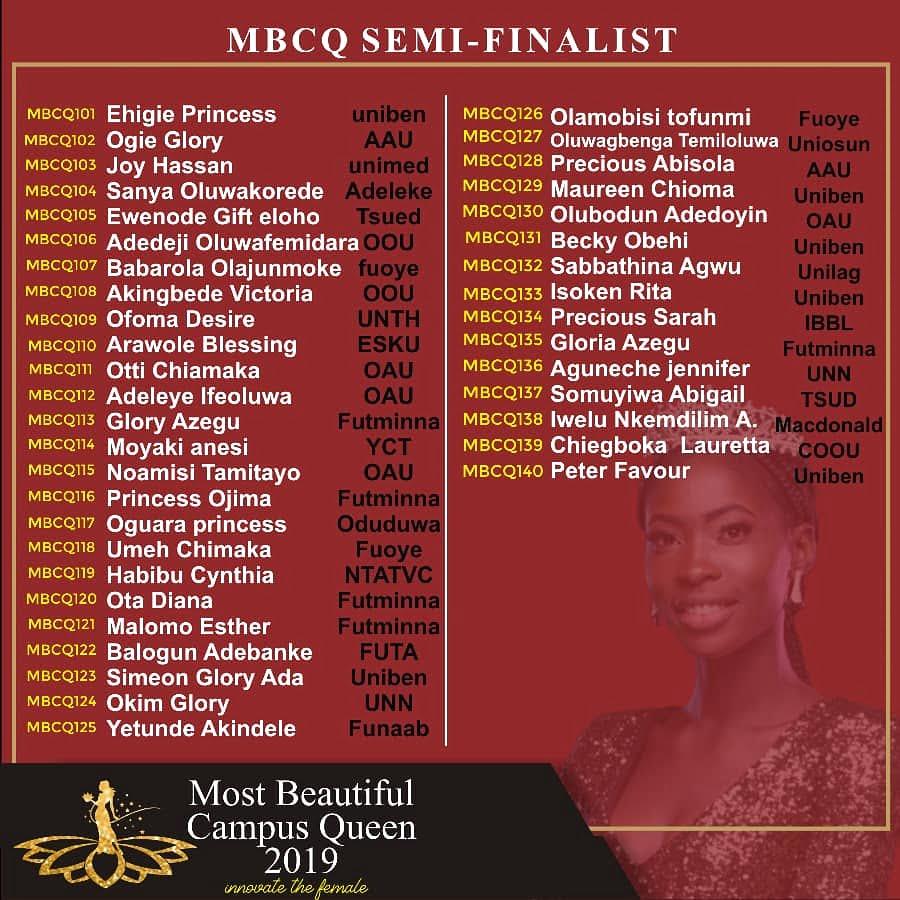 MBCQ - Most Beautiful Campus Queen Semi Finalist