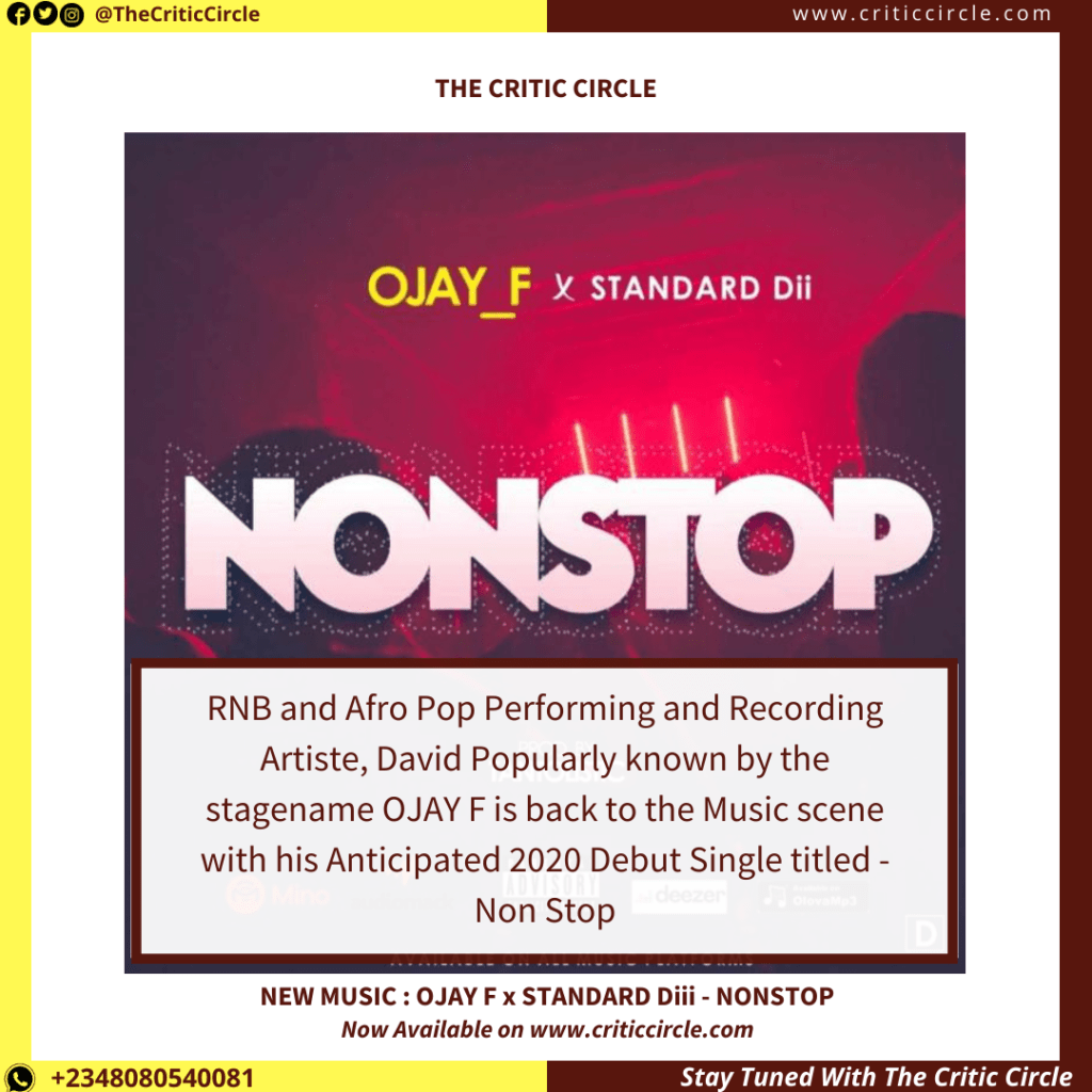 Pop: Ojay F x Standard Dii - NonStop [Download Mp3]